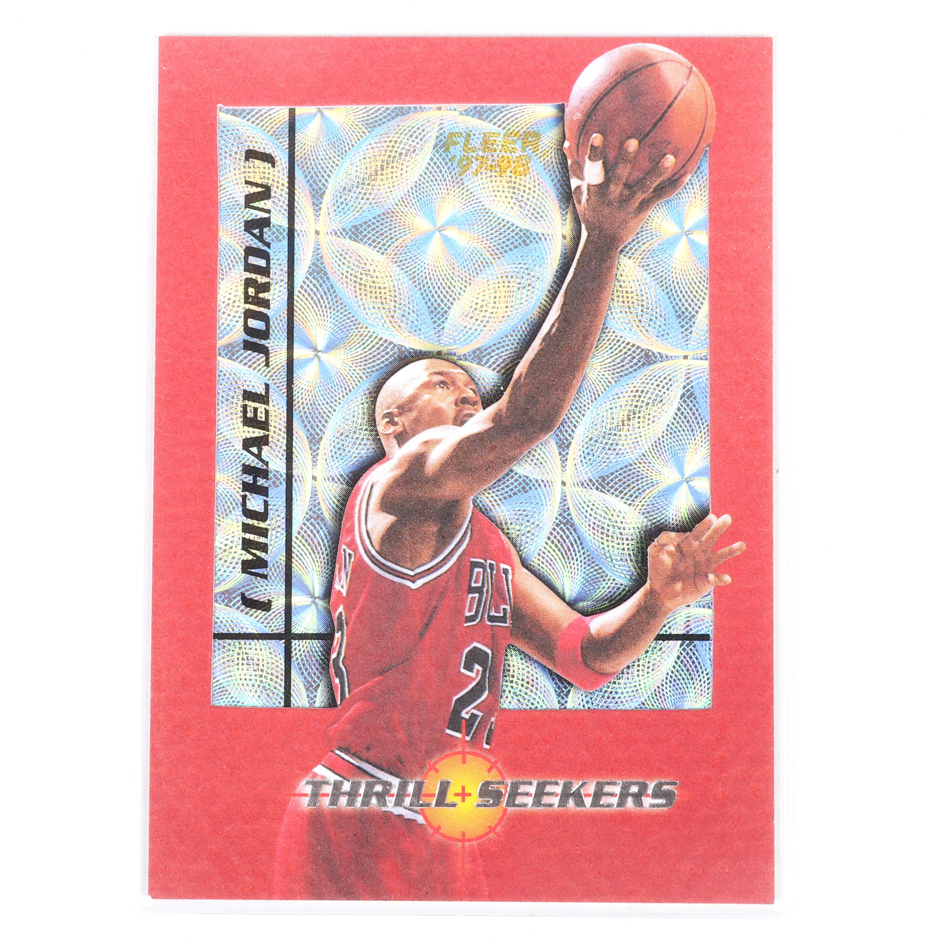 1997-98 Fleer Michael Jordan Thrill Seekers Insert #7