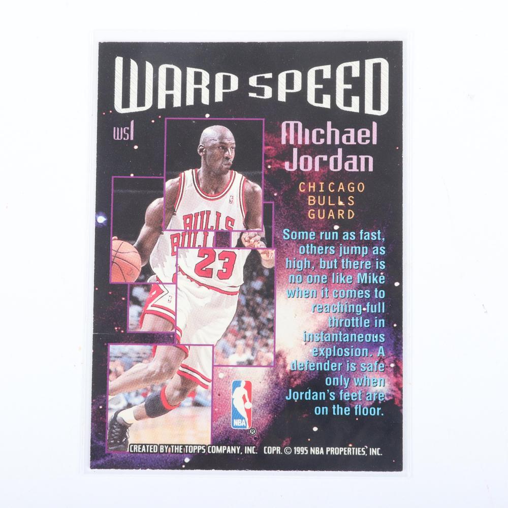 Michael Jordan 1995-96 Topps Stadium Club Warp Speed Insert #WS1