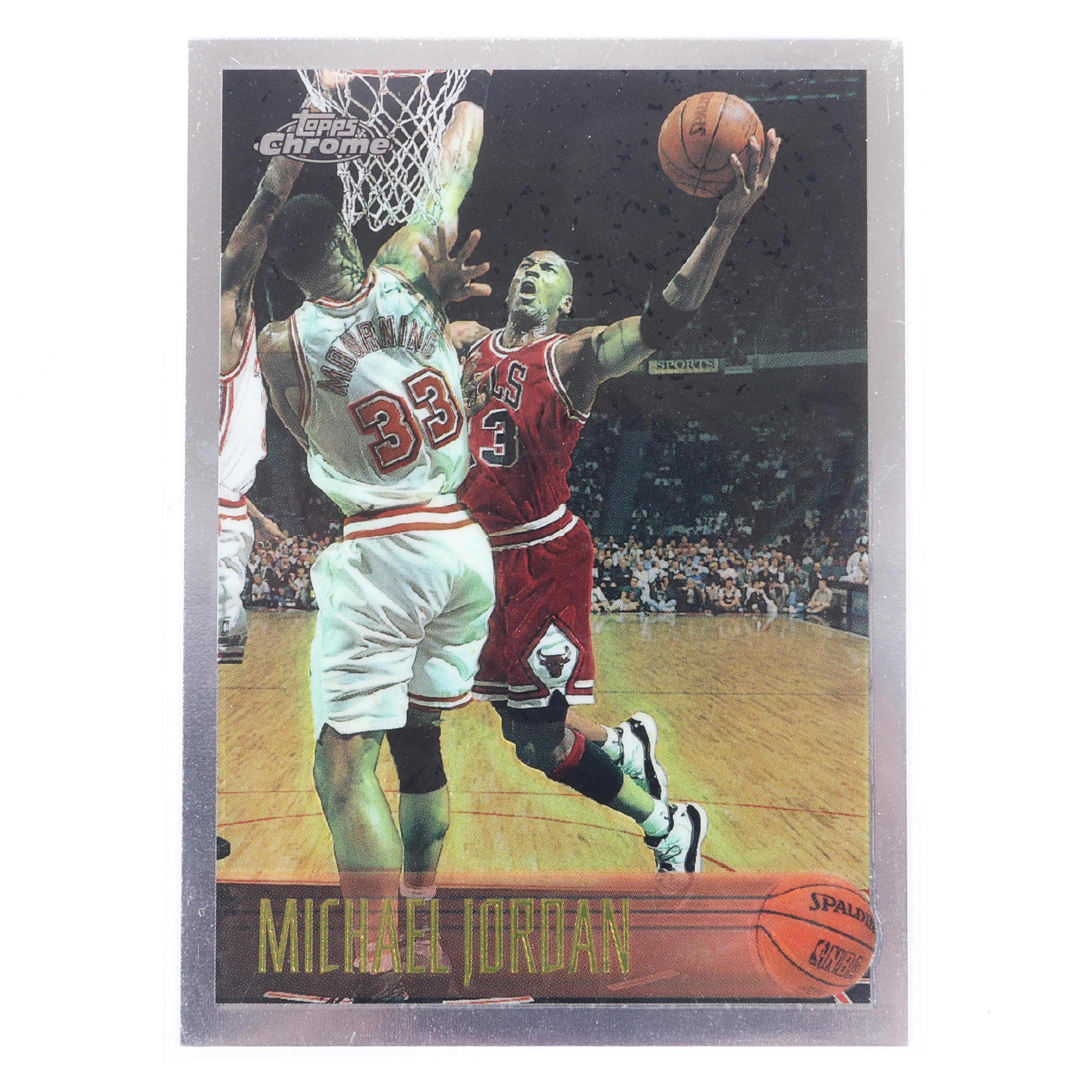 1996-97 Topps Chrome Michael Jordan Basketball Card #139