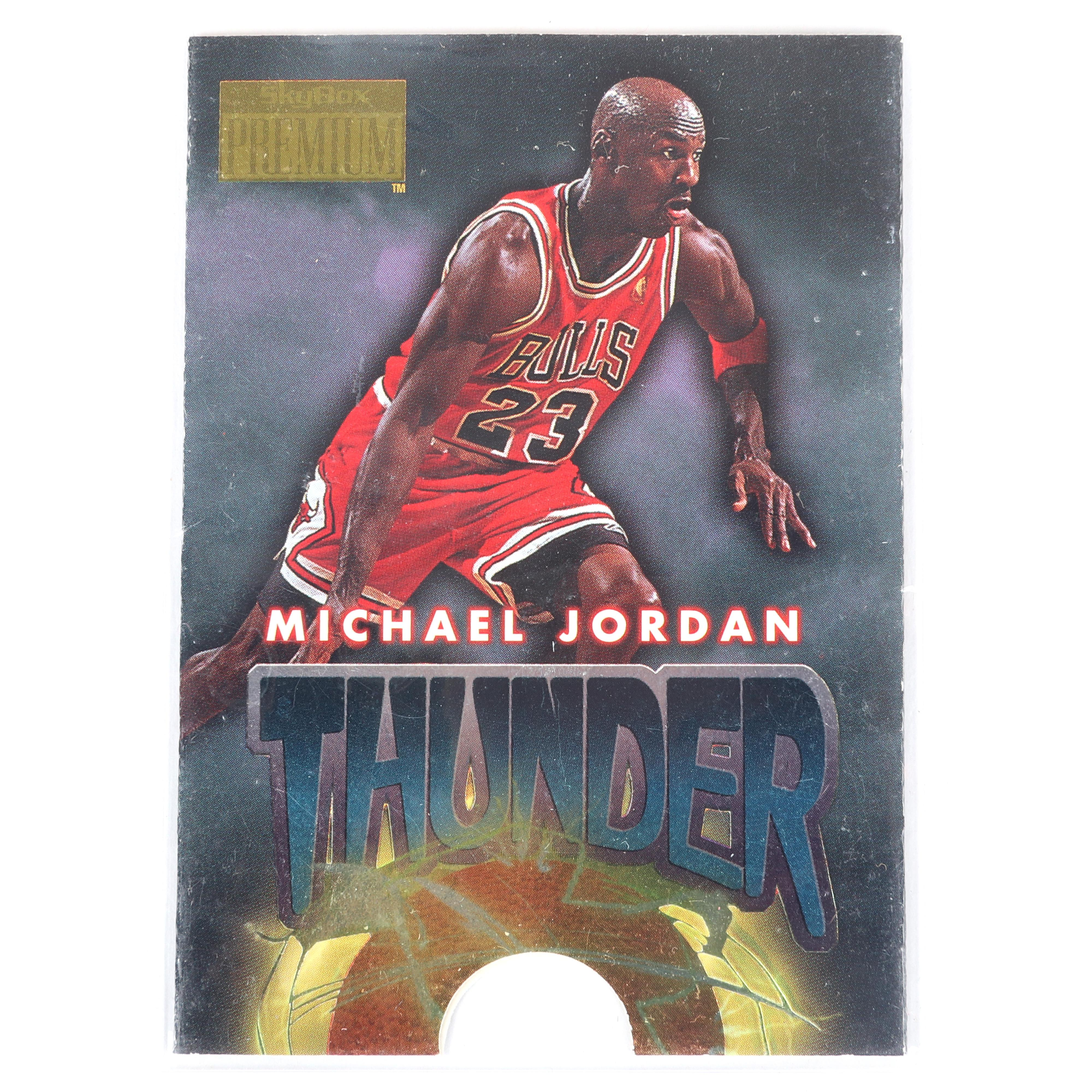 Michael Jordan 1996-97 Skybox Premium Thunder & Lightning Die Cut Insert #1