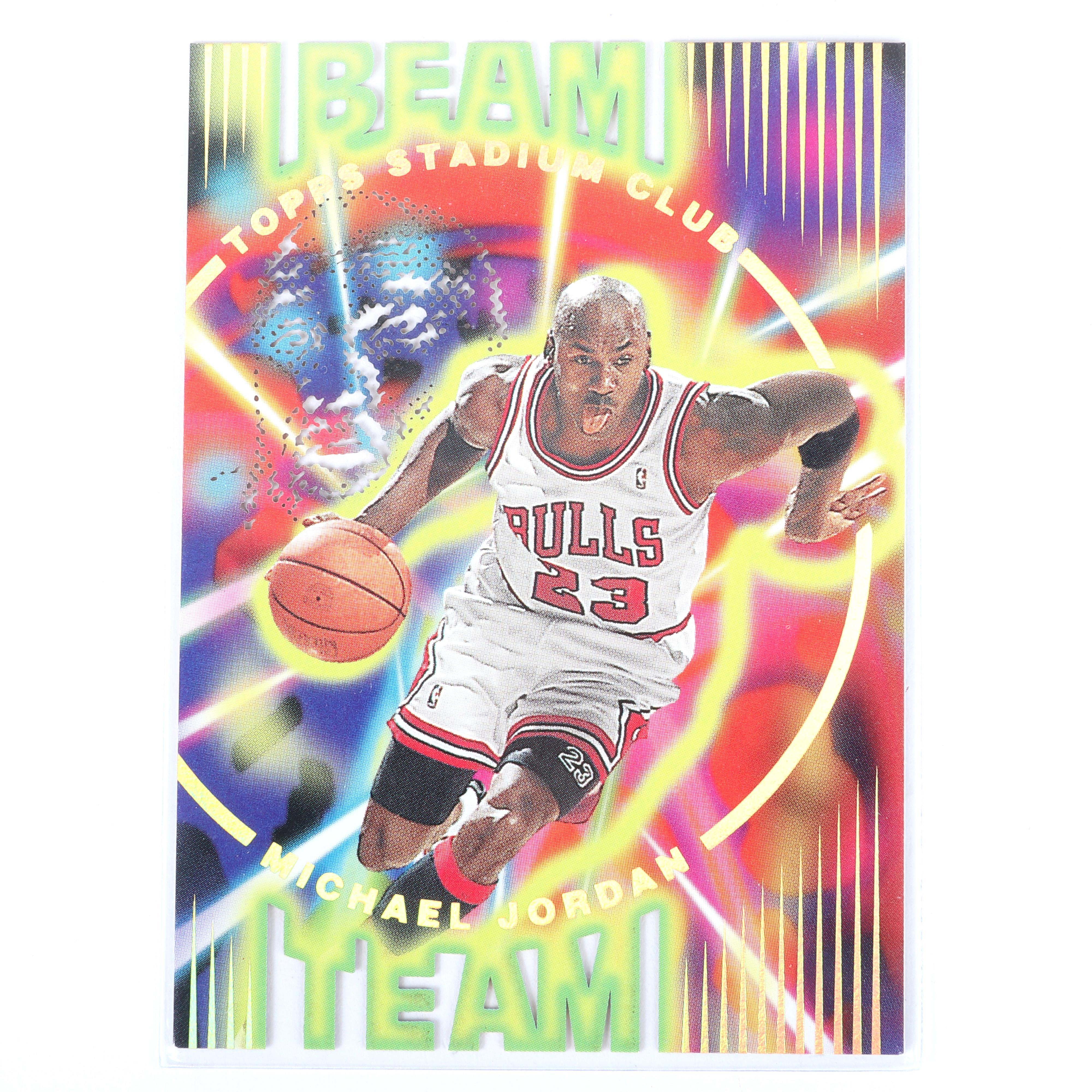 1995-96 Topps Stadium Club Michael Jordan Beam Team Insert #B14