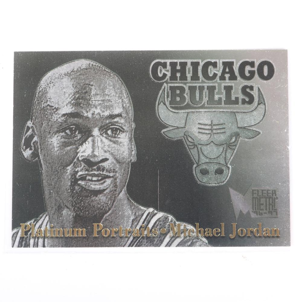 1996-97 Michael Jordan Fleer Metal Platinum Portraits Insert #5