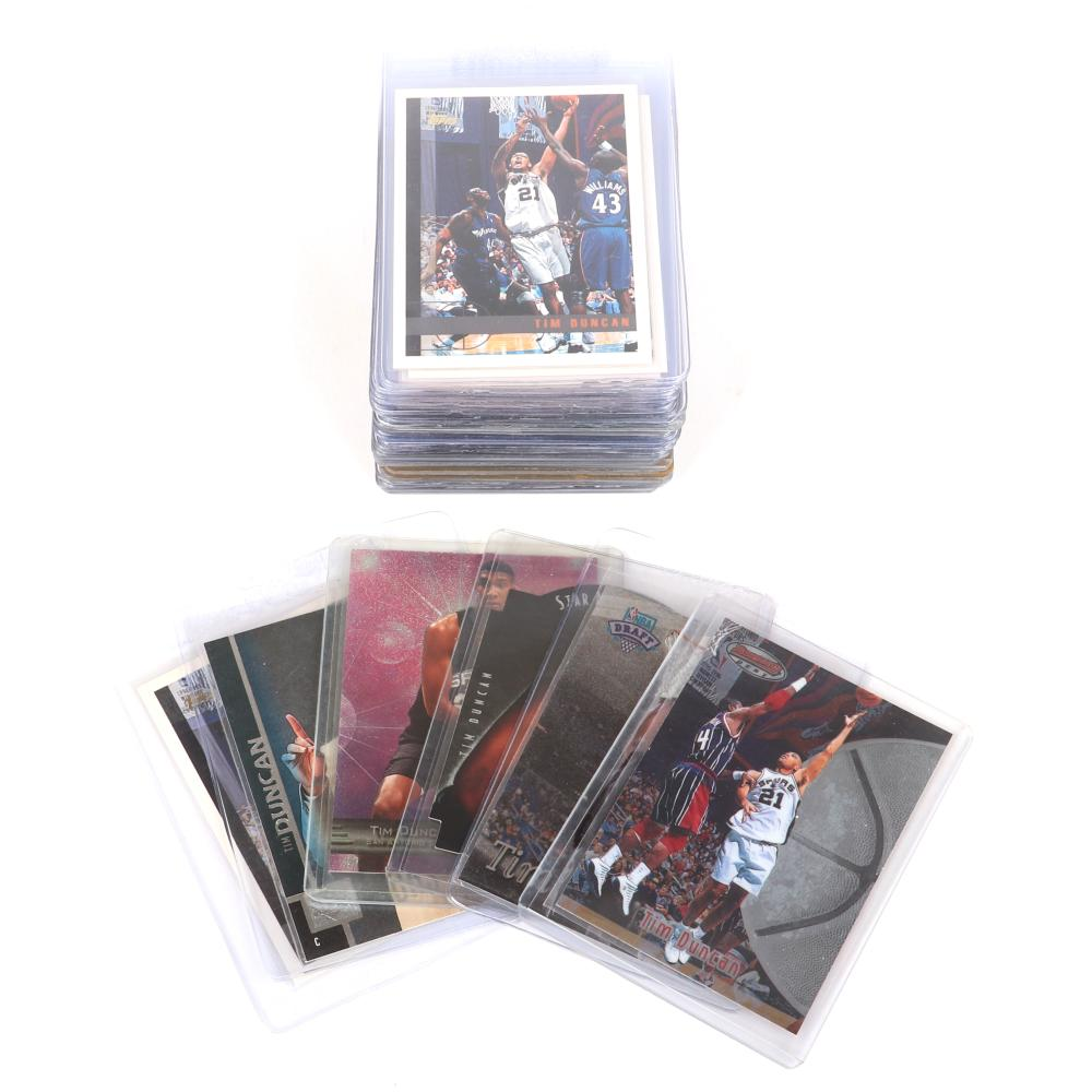 Lot of 45 Tim Duncan 1997-98 Rookie Basketball Cards