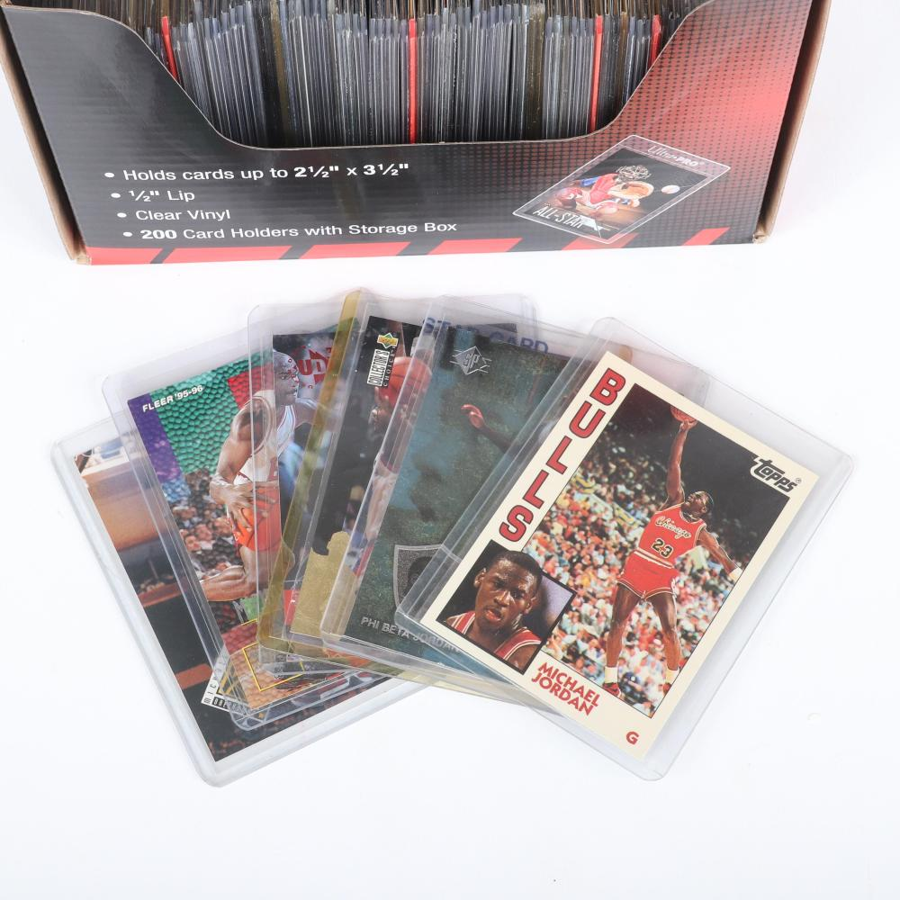 Lot of 100 Michael Jordan Basketball Cards
