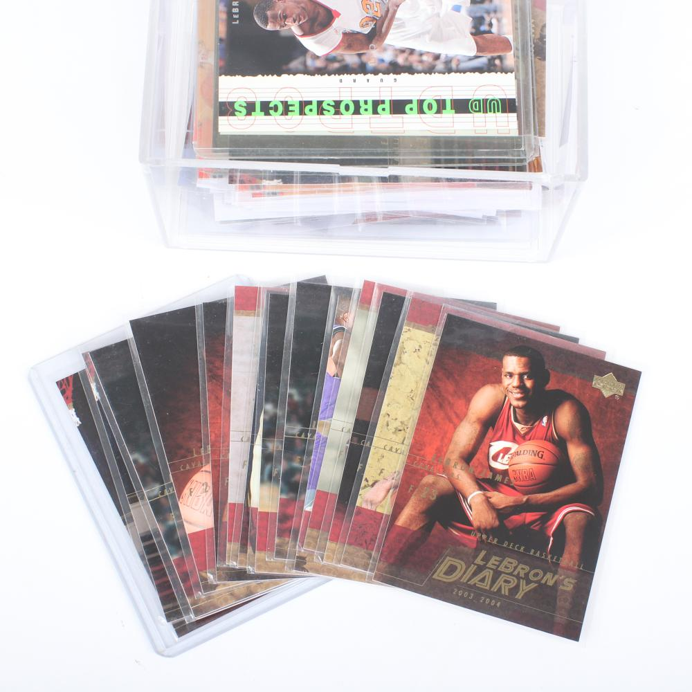 Lot of 83 Lebron James Basketball Cards with some Rookies