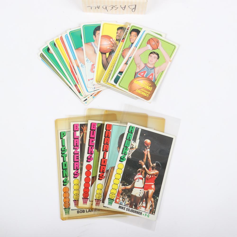 208 - 1969-1976 Tall Boy NBA Basketball Cards.
