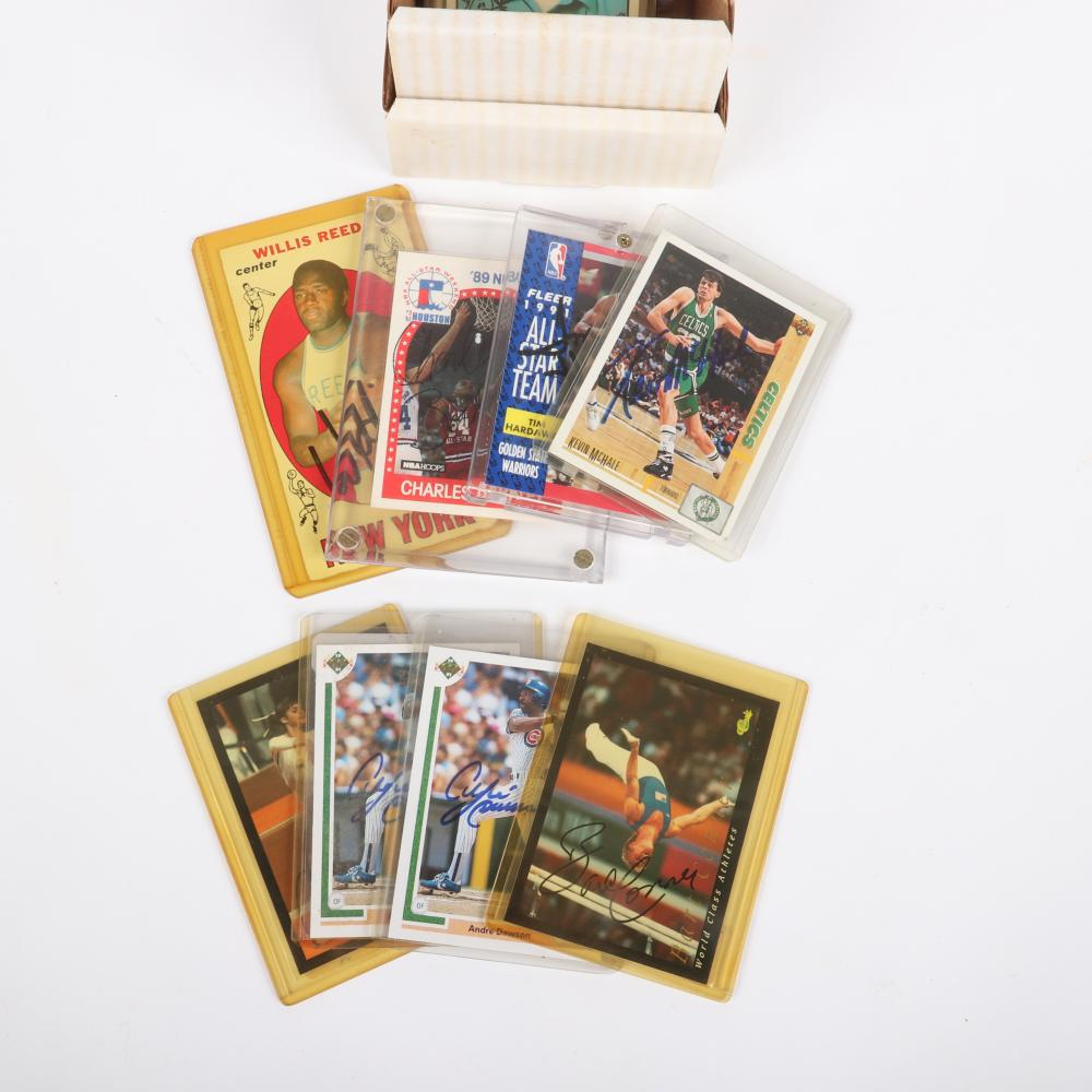 93 Autographed NBA Basketball Trading Cards