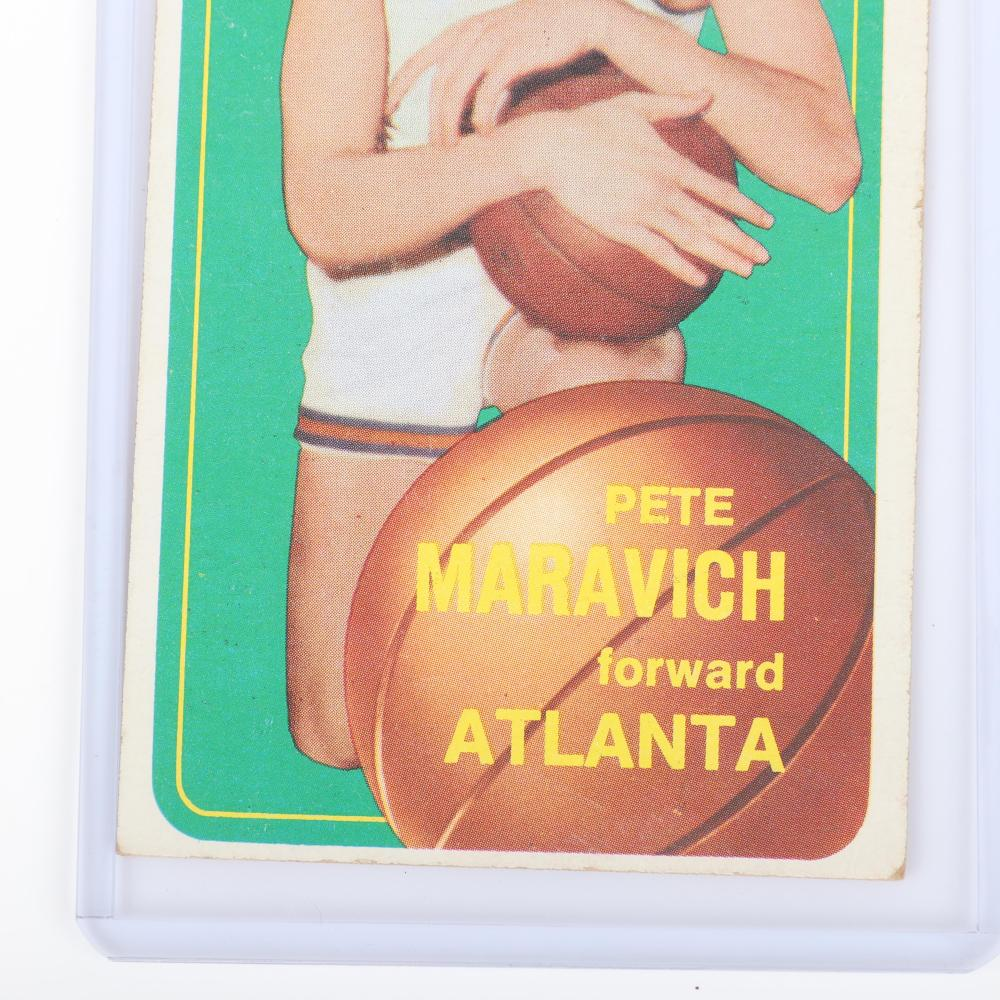 1970 Topps Pete Maravich Rookie Basketball Card #123