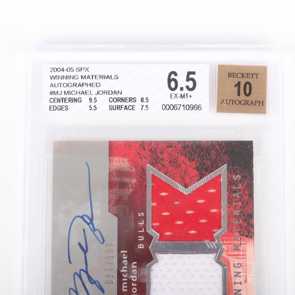 2004-05 SPX Michael Jordan Winning Materials Autograph Card #WMA-MJ BGS 6.5 Autograph 10