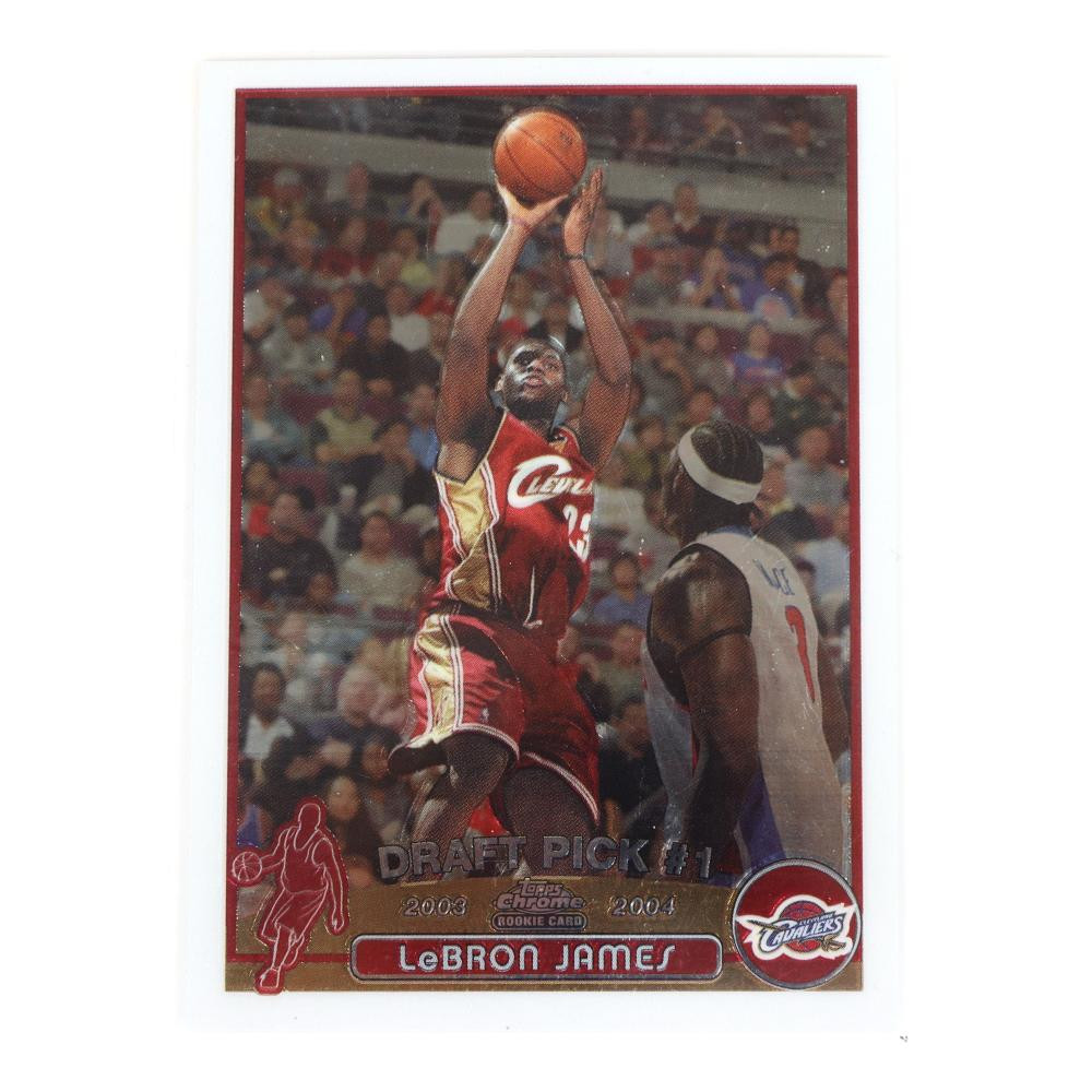 2003-04 Topps Chrome Lebron James Rookie Card #111.