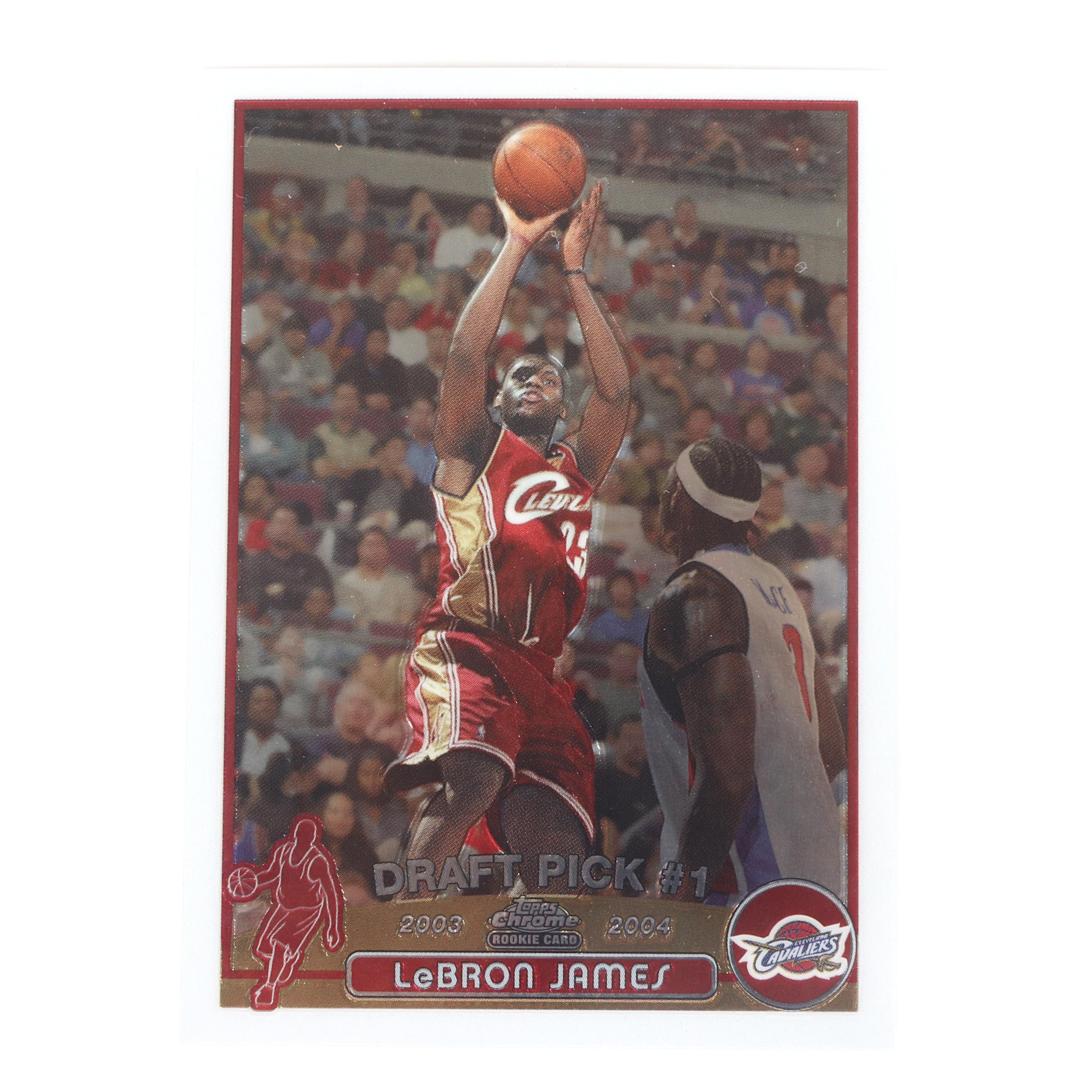 2003-04 Topps Chrome Lebron James Rookie Card #111