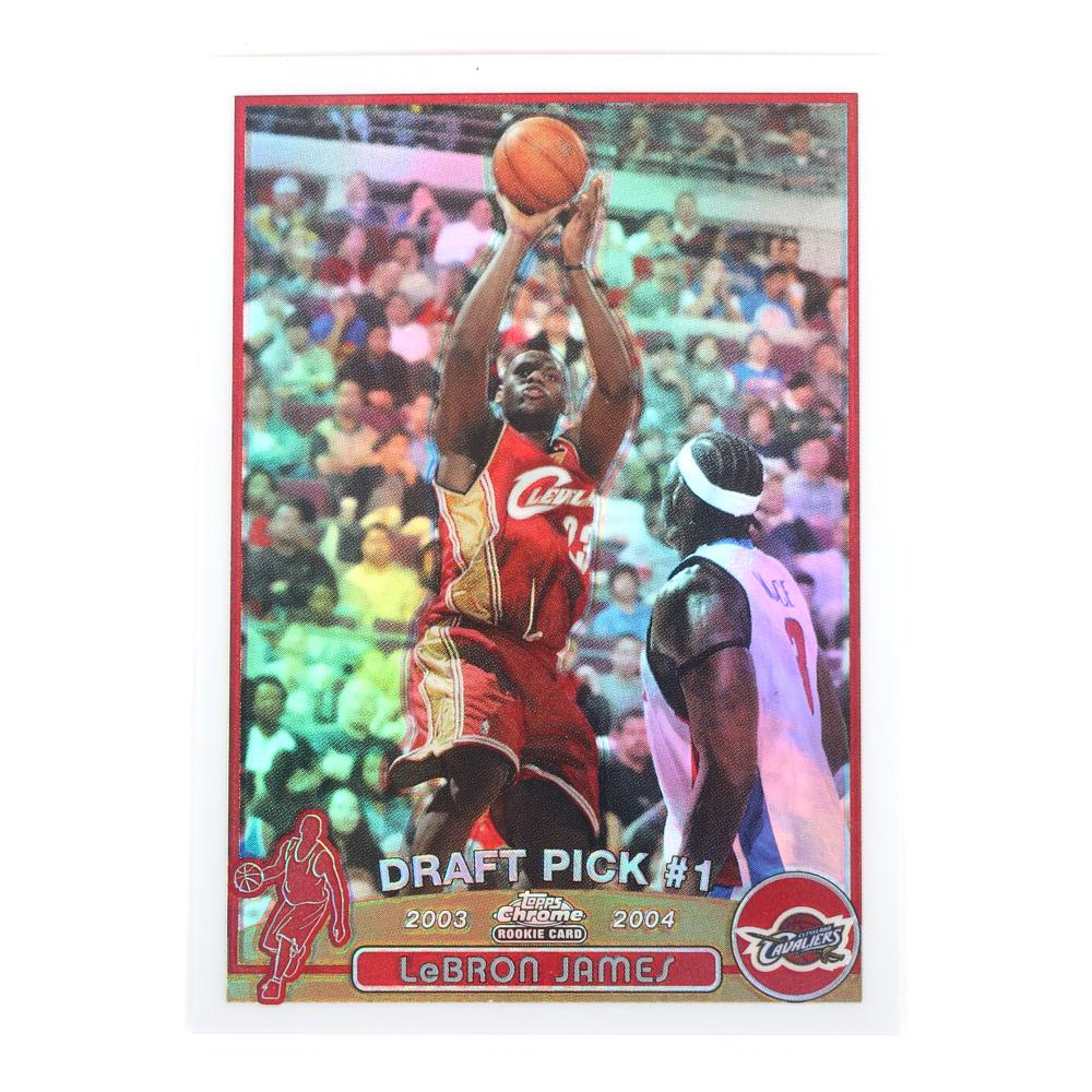 2003-04 Lebron James Topps Chrome Refractor Rookie