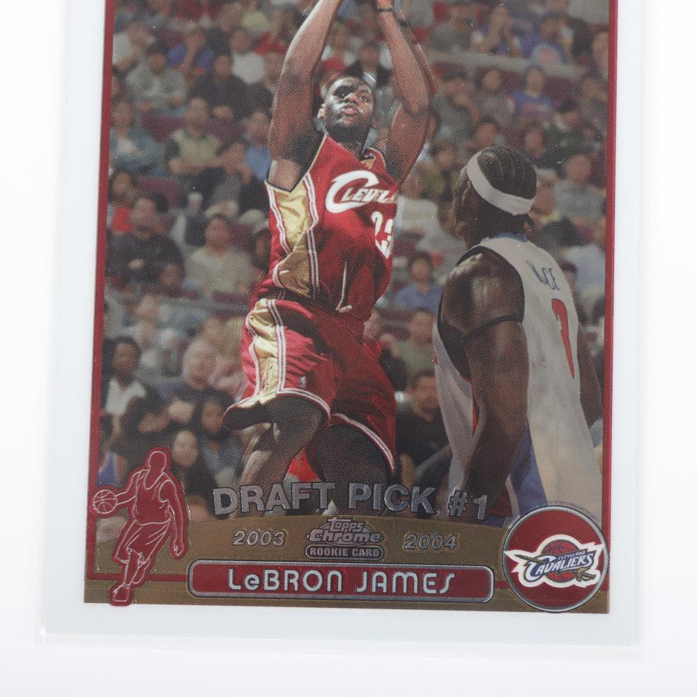 2003-04 Topps Chrome Lebron James Rookie Card #111