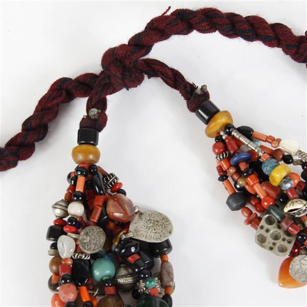 Sold Price Vintage Antique Moroccan Berber Oversized Trade Bead Necklace With Turquoise Amber Glass Polished Stone Beaded Multi Strands Wi August 6 0118 11 00 Am Edt