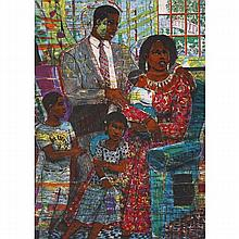 """Louis Delsarte, (American/New York; b.1944), """"Unity"""", color lithograph on wove paper, 28 1/2"""" x 21 1/2""""."""