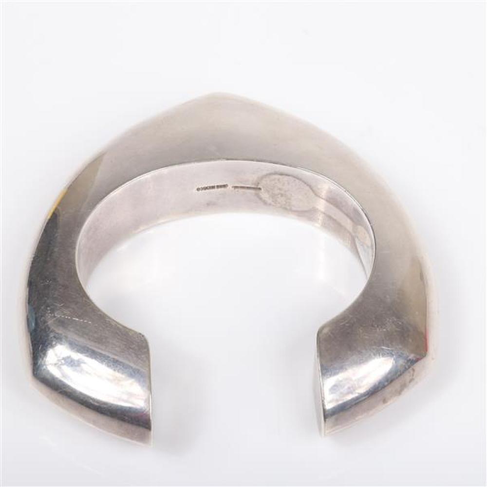 Modernist Sterling Cuff Bracelet by Jondell