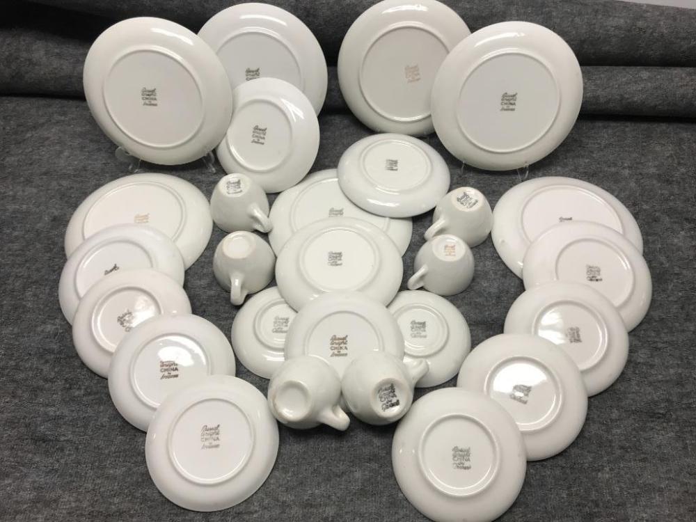 "Russel Wright Iroquois ""Raindrop White"" 27 Pieces: 9""diam. (plate)"