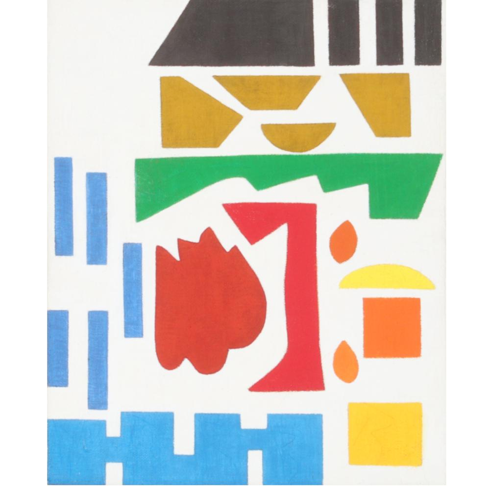 """Shirley Jaffe, New York, New Jersey / France (1923-2016), Untitled, 1985, oil on canvas, 10 1/2""""H x 8 3/4""""W (sight), 16""""H x 13 3/4""""W (frame)"""