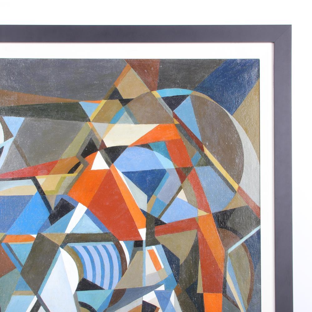"George L.K. Morris, American (1905-1975), Untitled (Vortex), oil on canvas, 35 1/2""H x 28 3/4""W (sight), 40 1/2""H x 33 1/2""W (frame)"