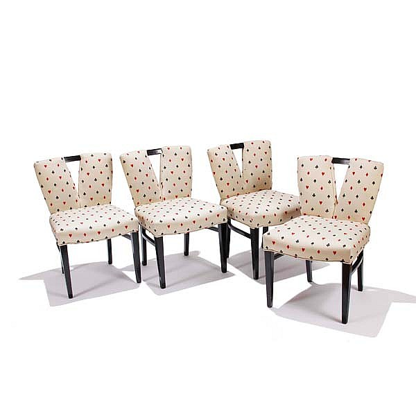 Paul Frankl Dining Chairs Set Of Four, Paul Frankl Johnson Furniture Company