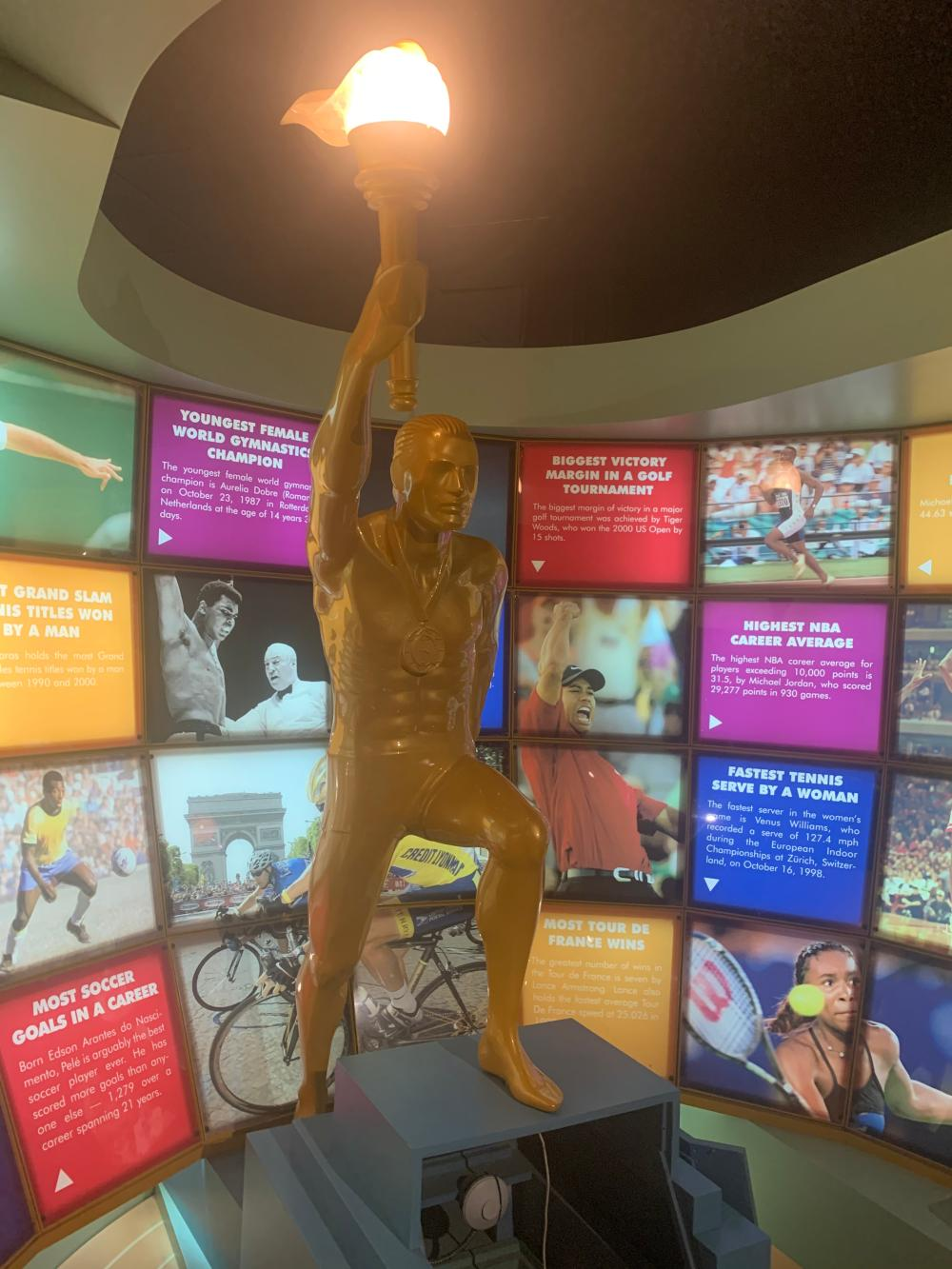 Guinness Museum Sports World Sign Character and Pedestal