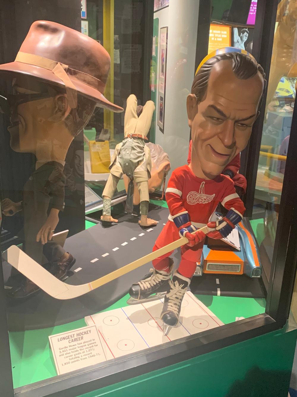 Gordie Howe Caricature Guinness Museum Display Figure