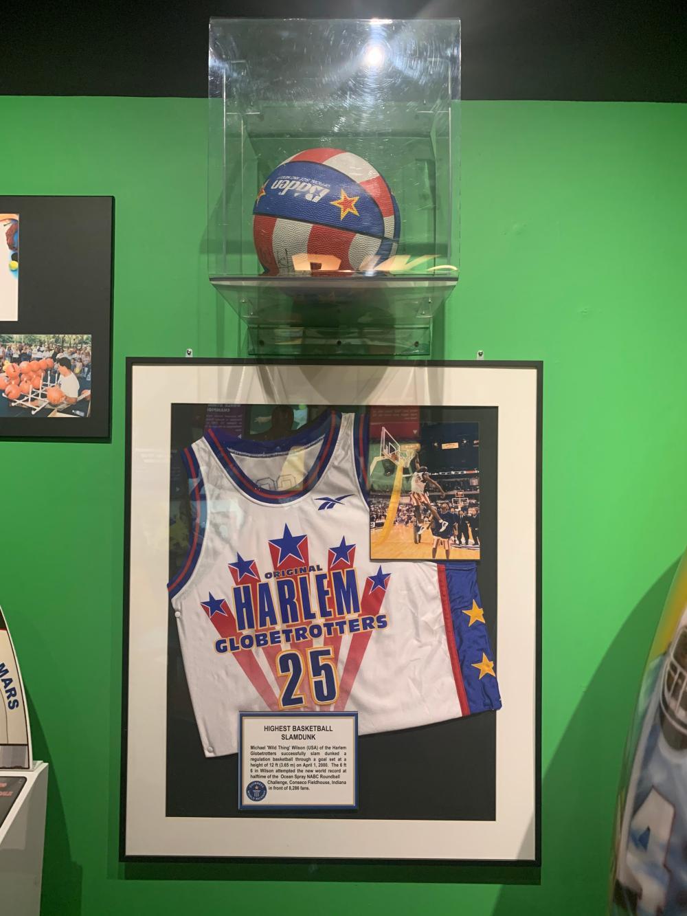Harlem Globetrotters Museum Display & Signed Basketball