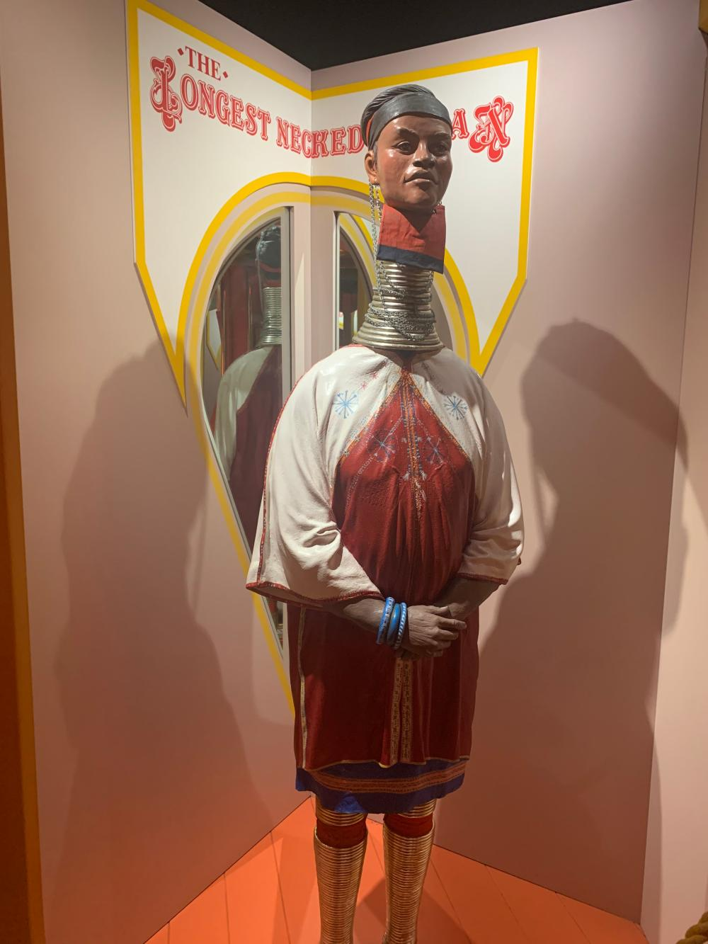 World's Longest Necked Woman Museum Display Circus Sideshow Character