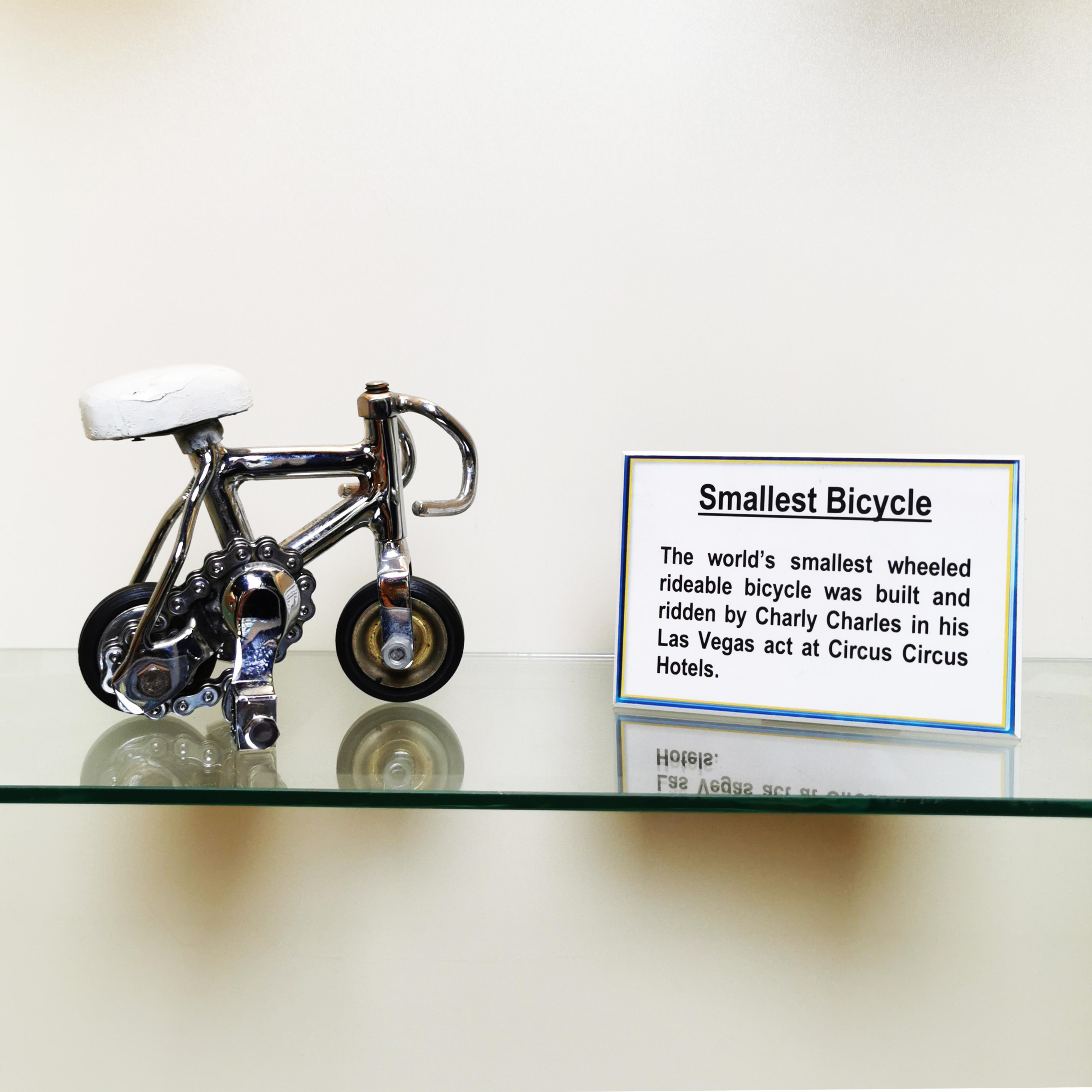 World's Smallest Bicycle artifact Guinness Museum