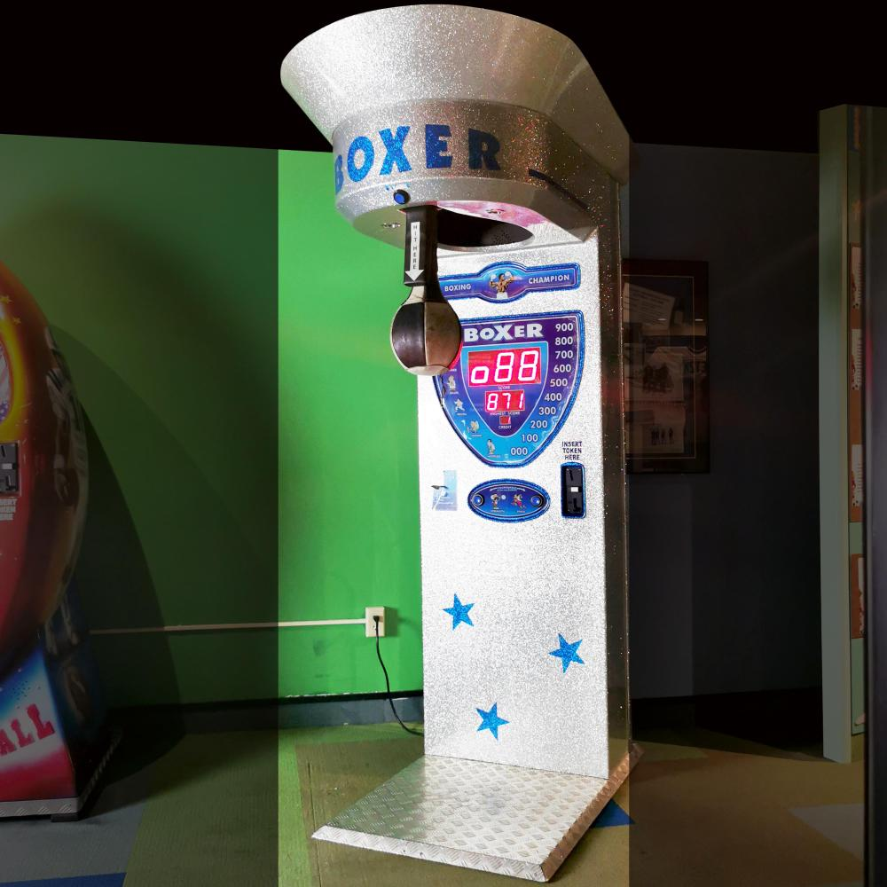 Coin Op Punching Bag Boxer Game Guinness Museum Display