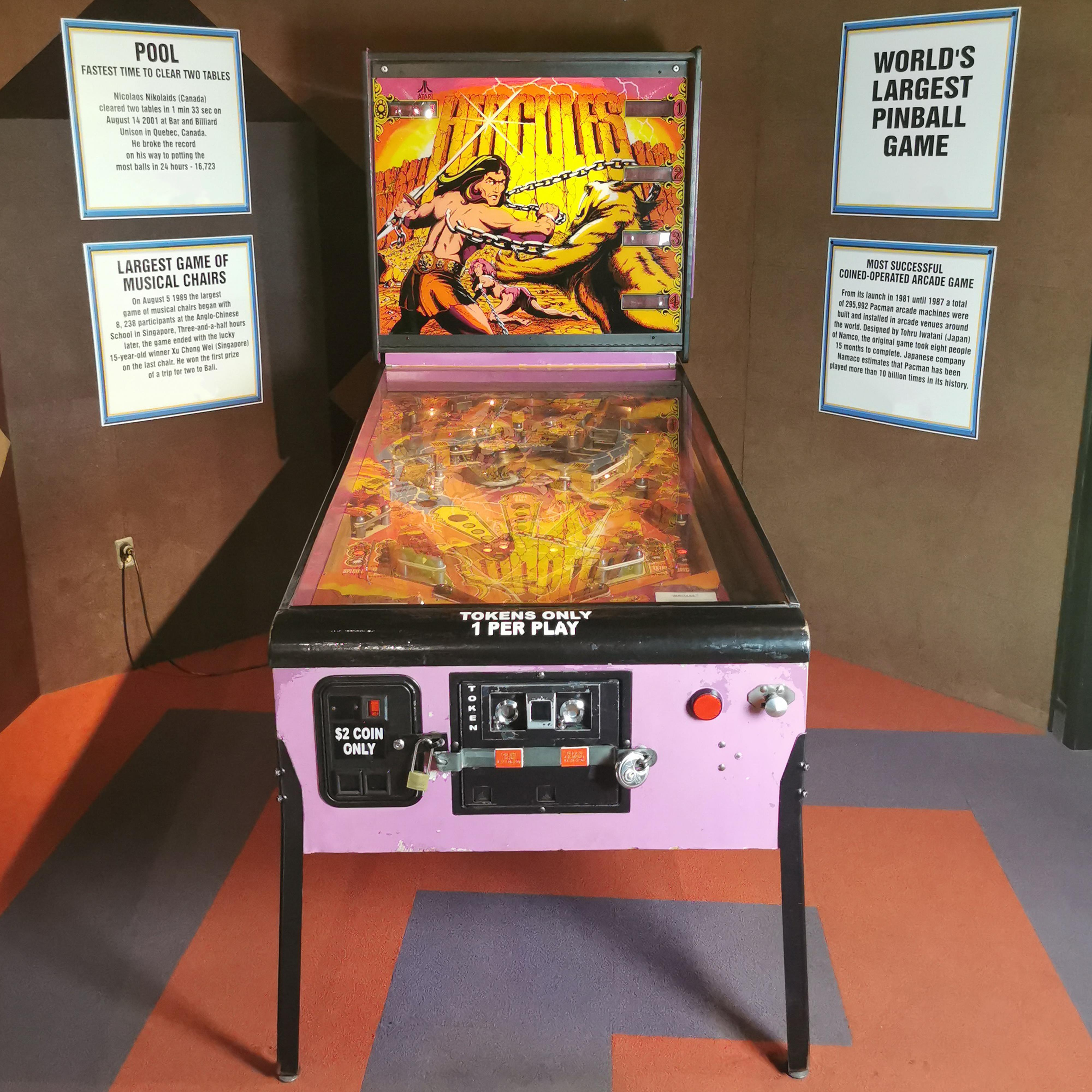 Atari Hercules Coin Op Pinball Game - World's Largest 1979 Guinness Museum Display