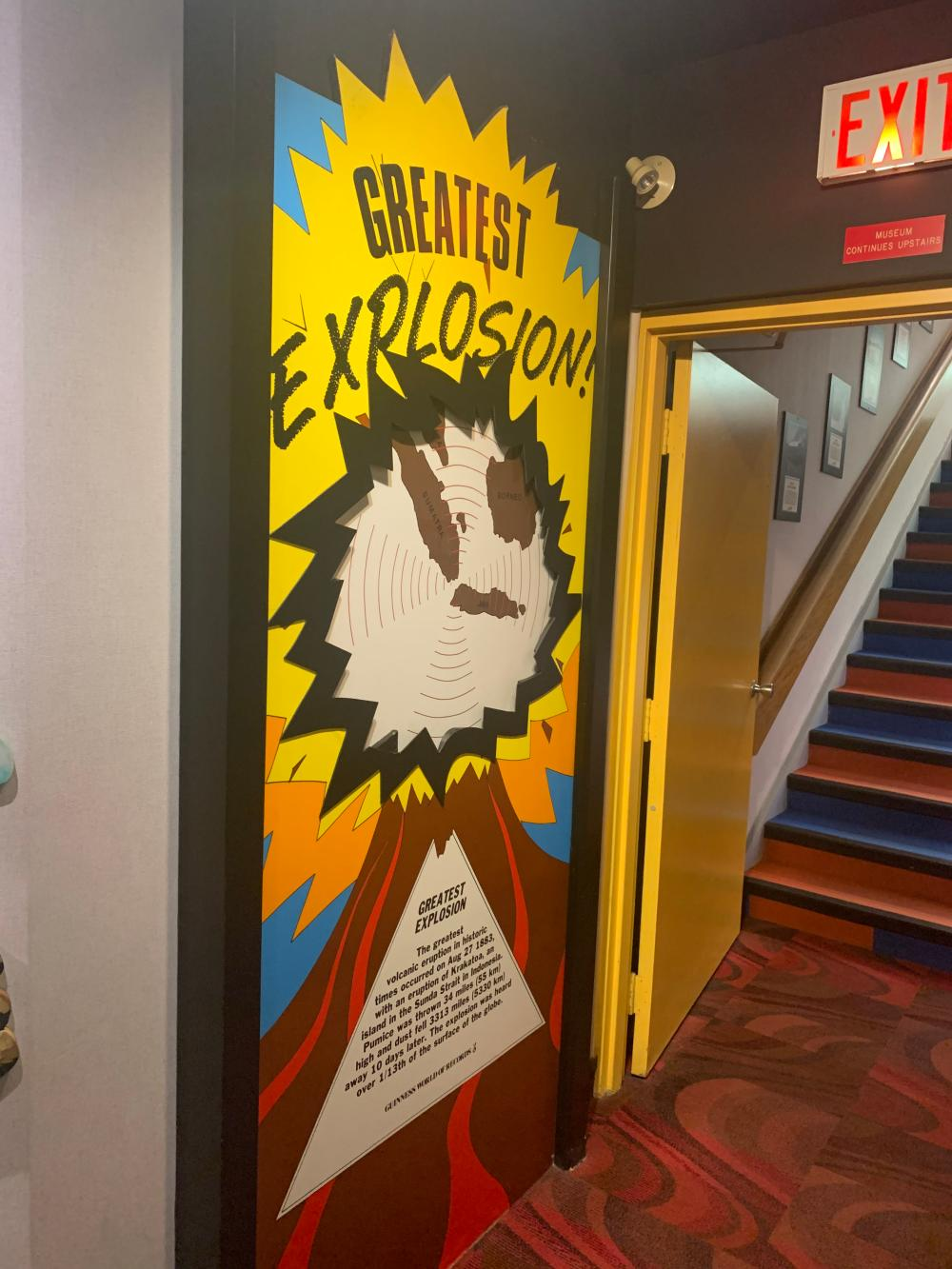 Greatest Explosion Wall Guinness Museum Display
