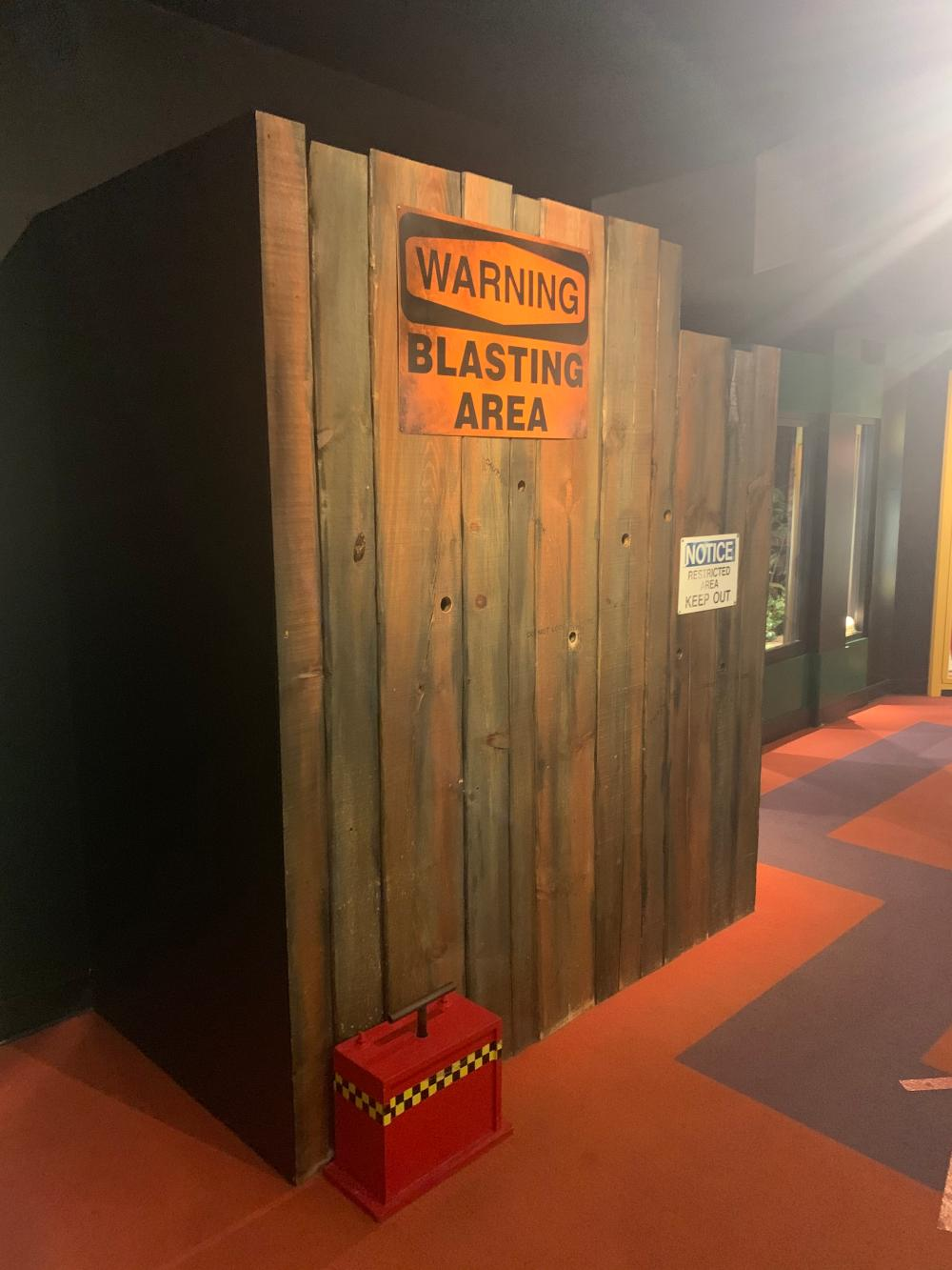 Blasting Area Warning Signs Guinness Museum Display