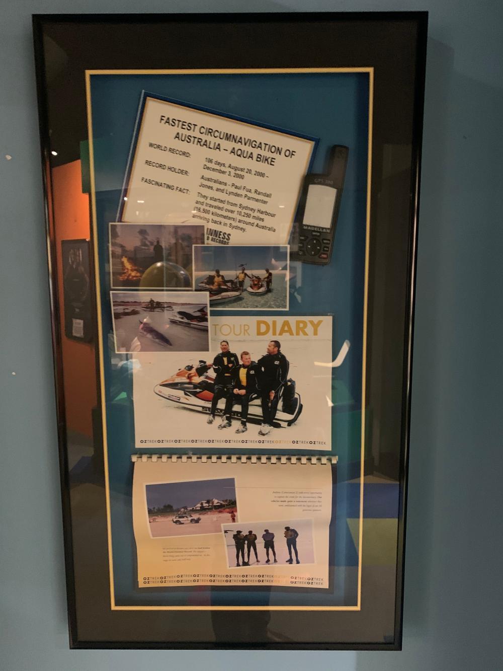 Fastest Circumnavigation of Australia Framed Museum Display Guinness World Record
