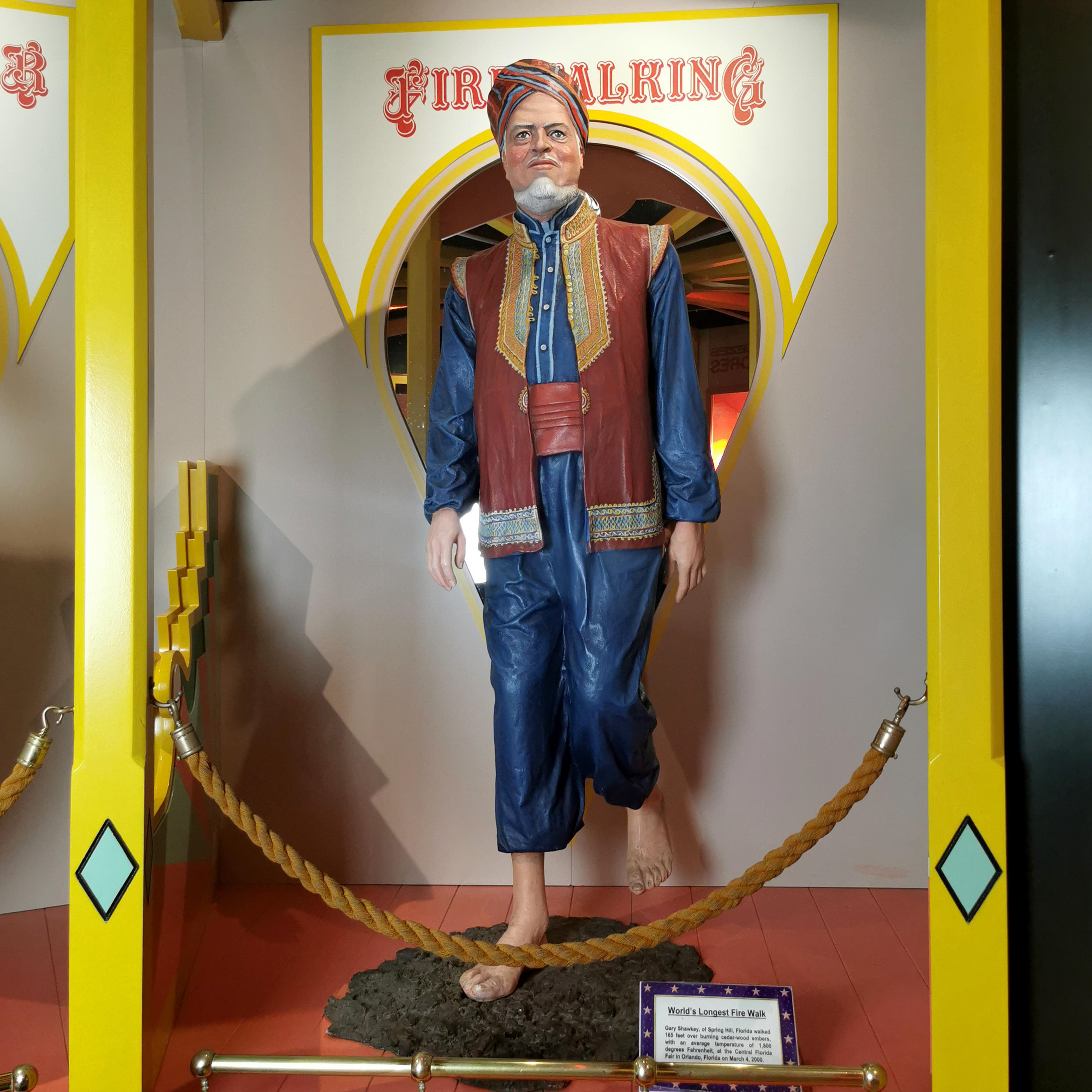 World Record Firewalker Guinness Museum Display Circus Sideshow Character