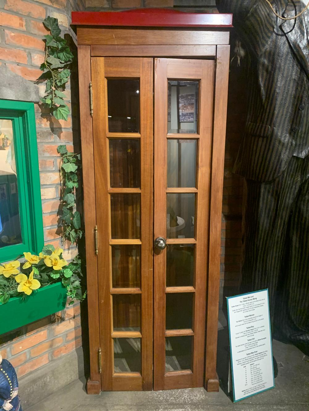 How Tall? Replica Phone Booth Museum Display Oddities