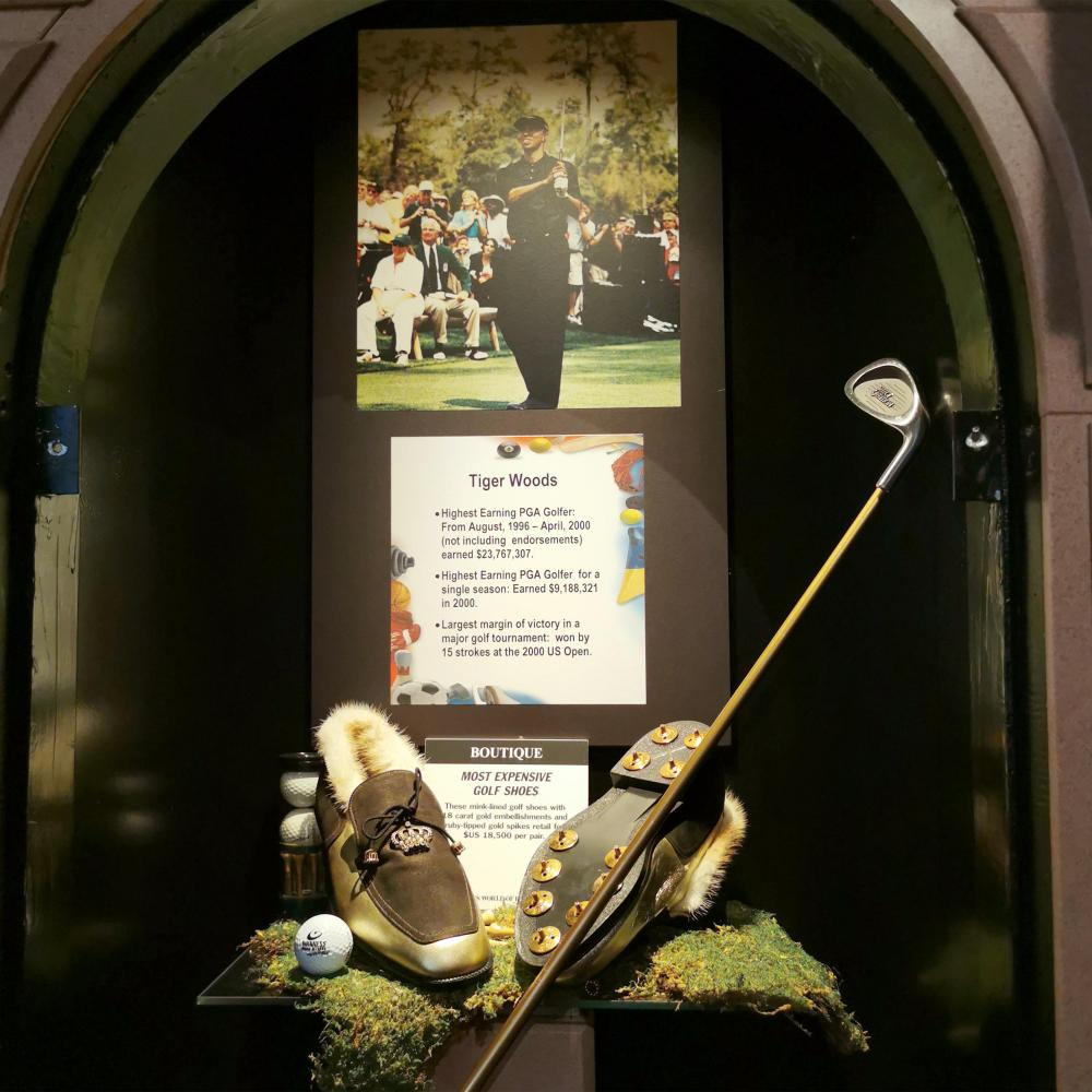 Stylo Matchmaker Ruby 10K Gold Most Expensive Golf Shoes Museum Display