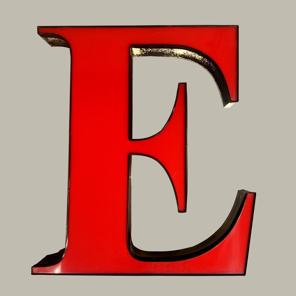 "Guinness Pylon Sign Letter ""E"" 32.5""w x 36.5""h x 5.5""d"