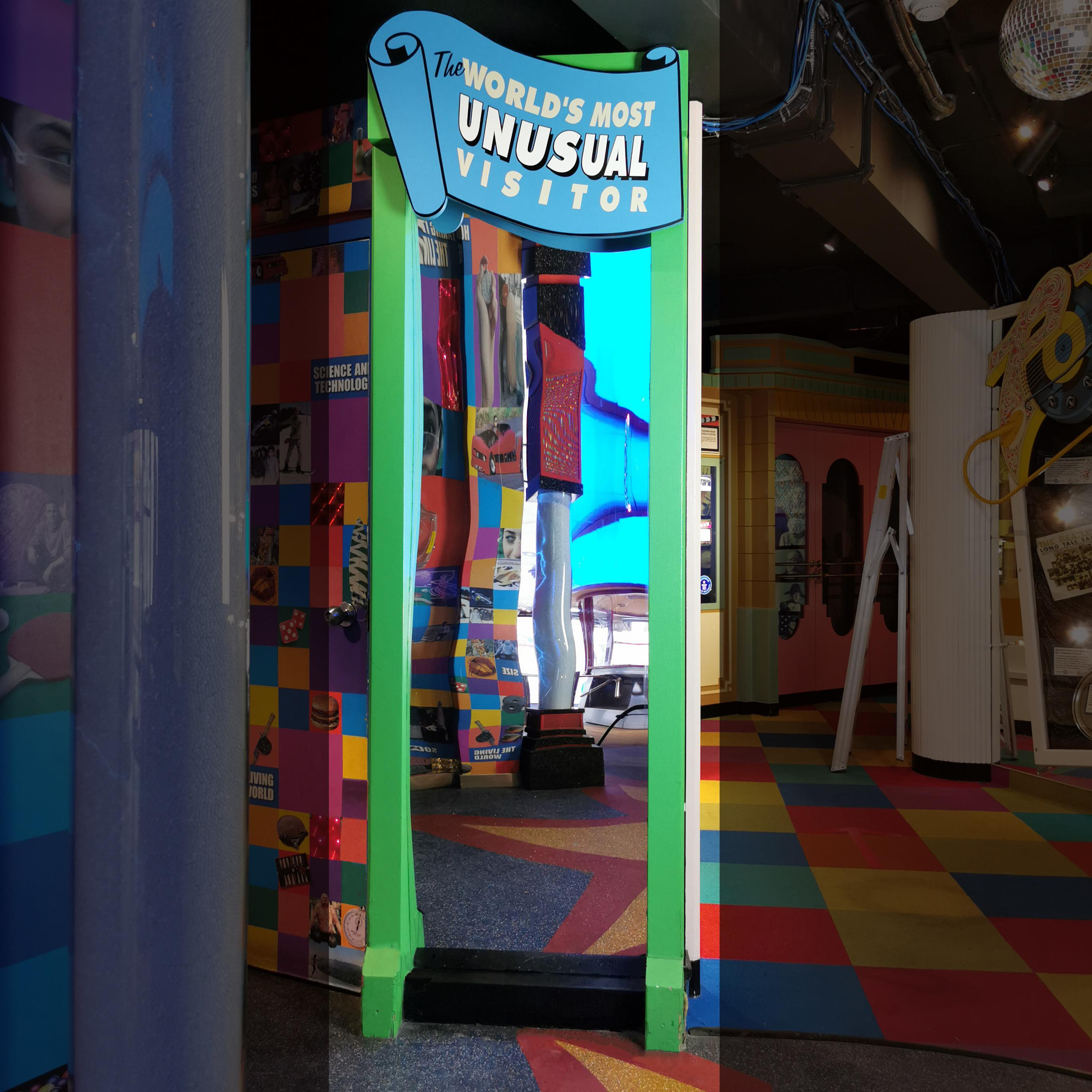 Fun House Mirror Guinness Museum Display Carnival Photo Op