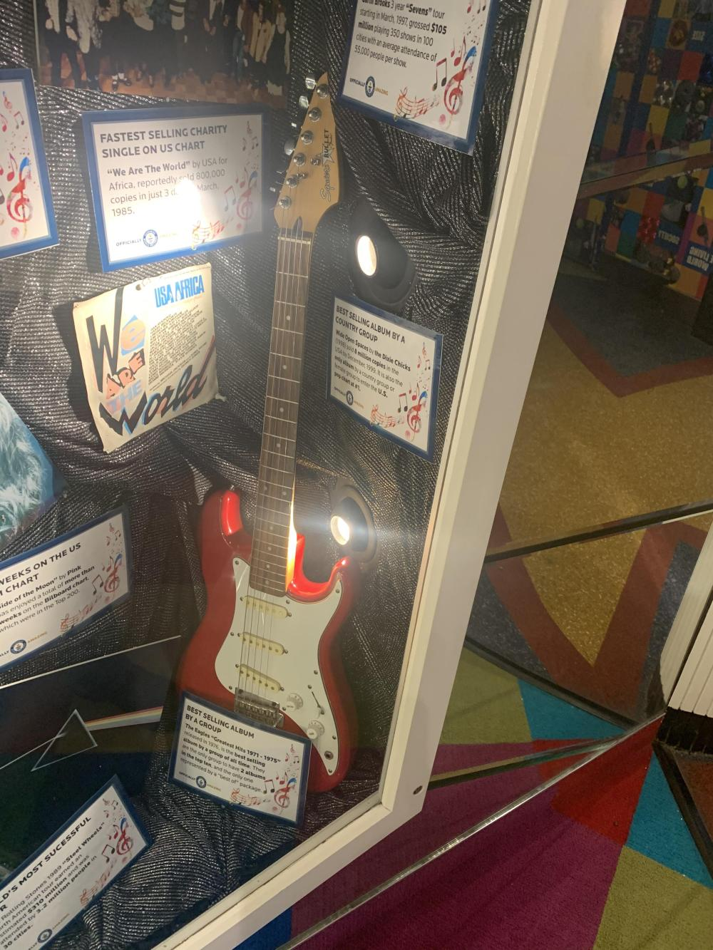 Guitar Feature Pop Rock Display Guinness World Records Museum
