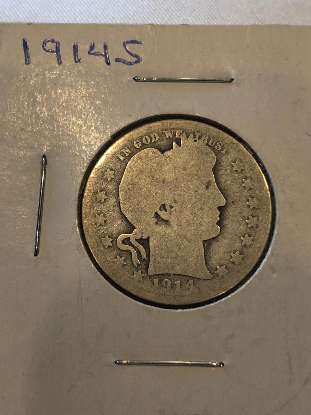1914 Silver Quarter