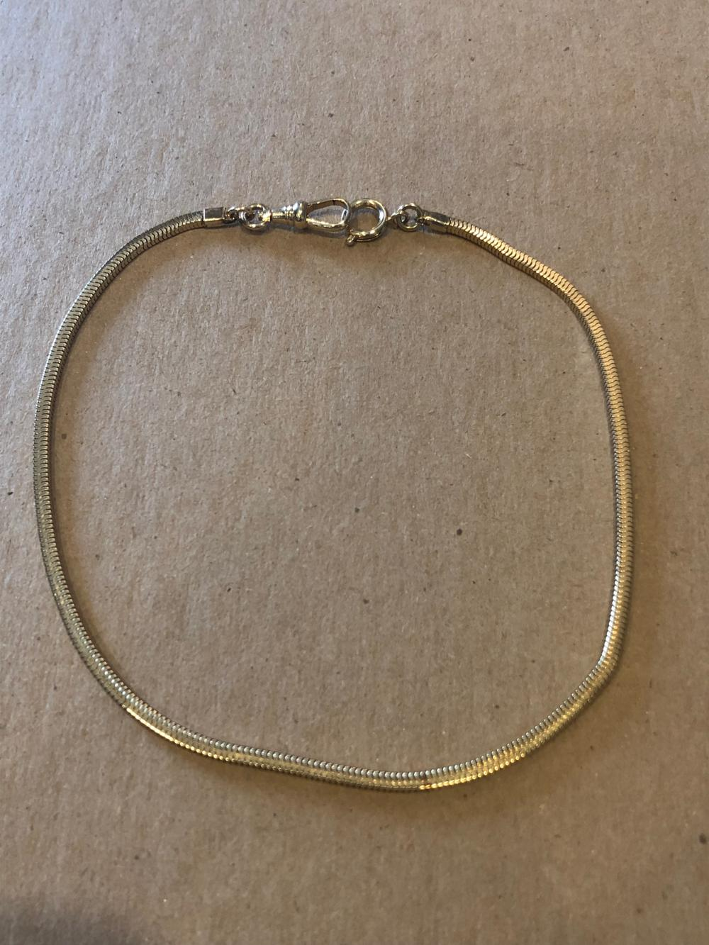 Gold Tone Watch Fob Chain