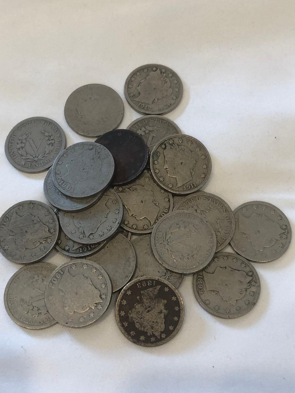 24 5 Cent Silver Coins