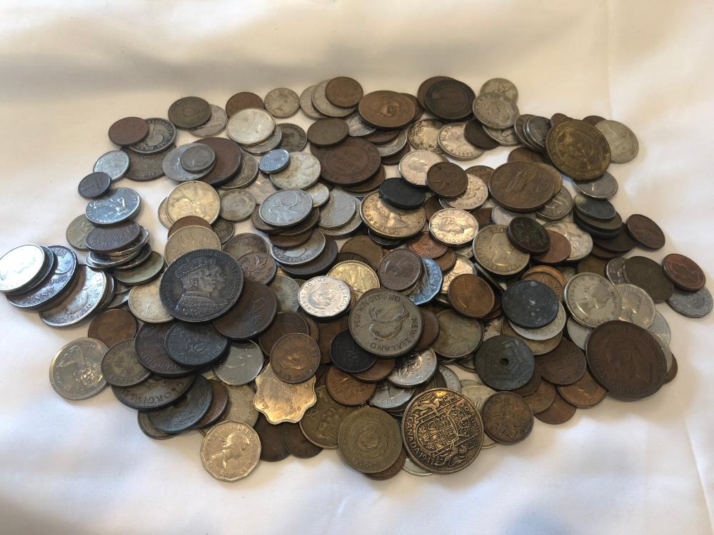 Lot of Various Coins of the World