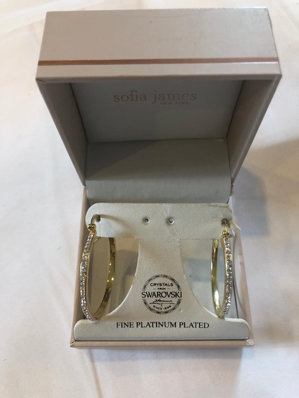 Swarovski Fine Platinum Plated Earrings