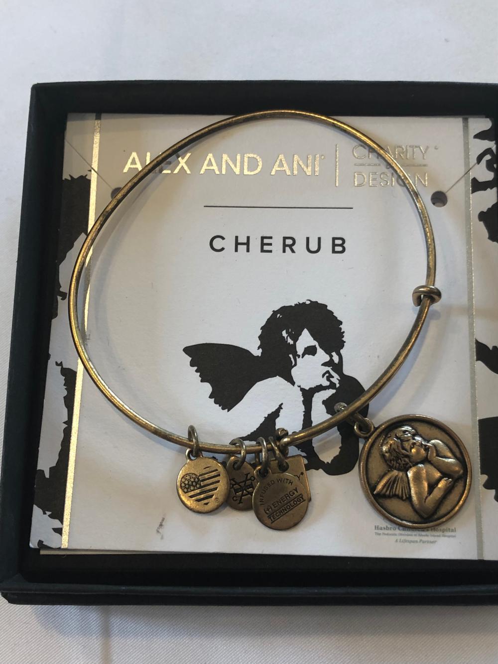 Alex and Ani Braclet with Cherub Charm