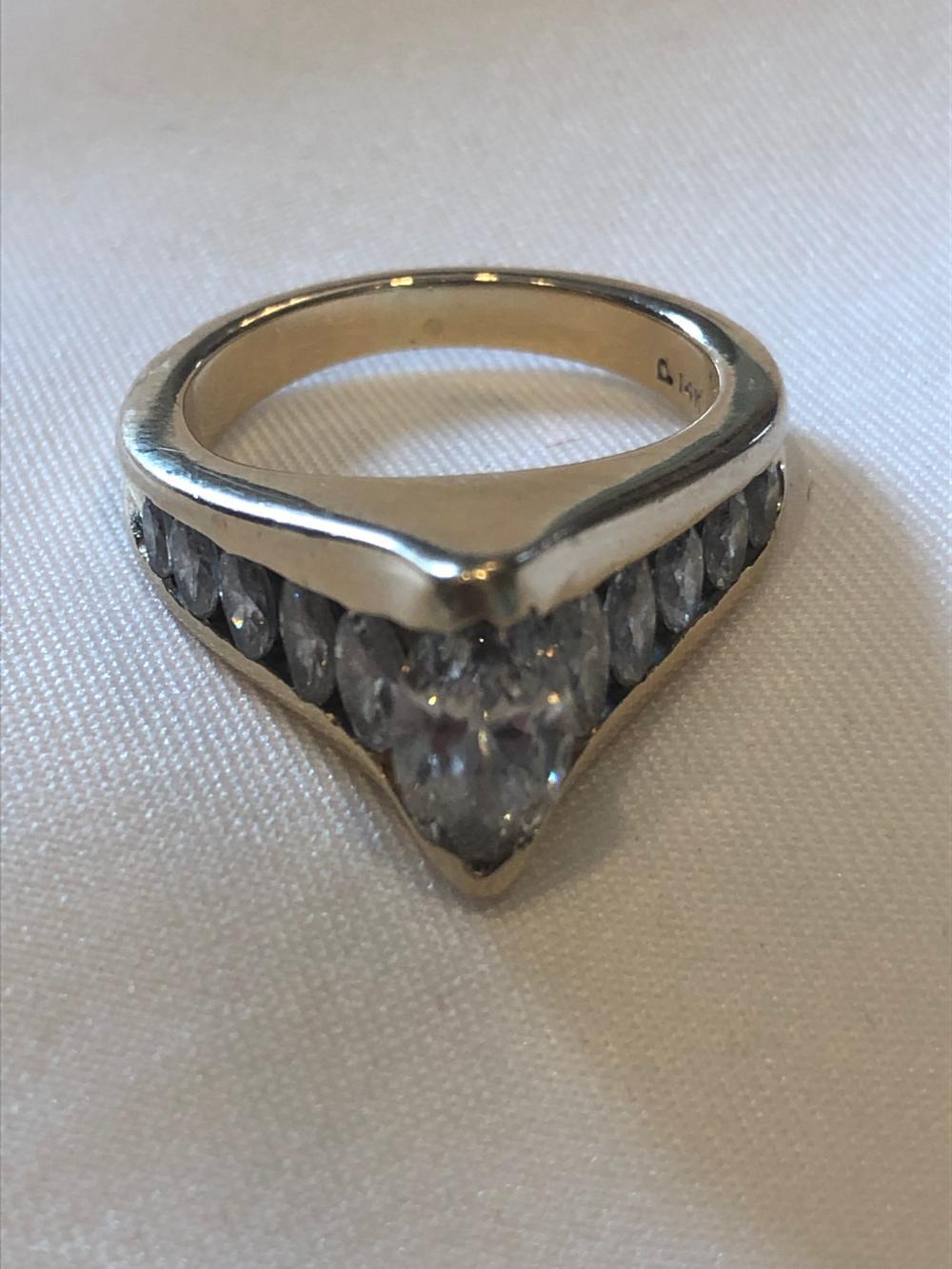 .84ct Marquis Diamond Ring