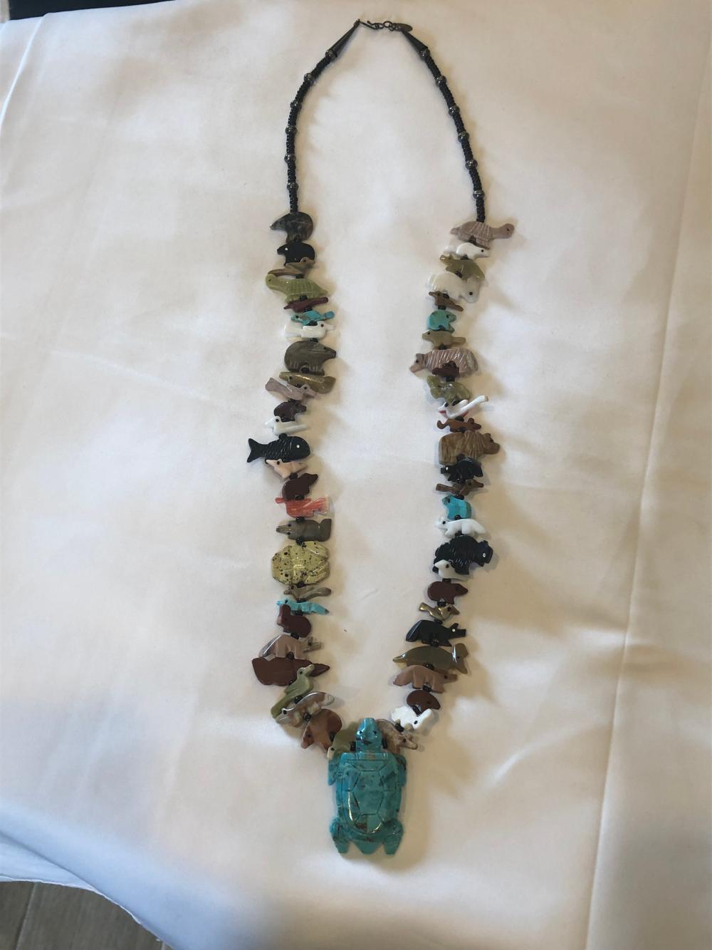 Multistoned Navajo Fetish Necklace