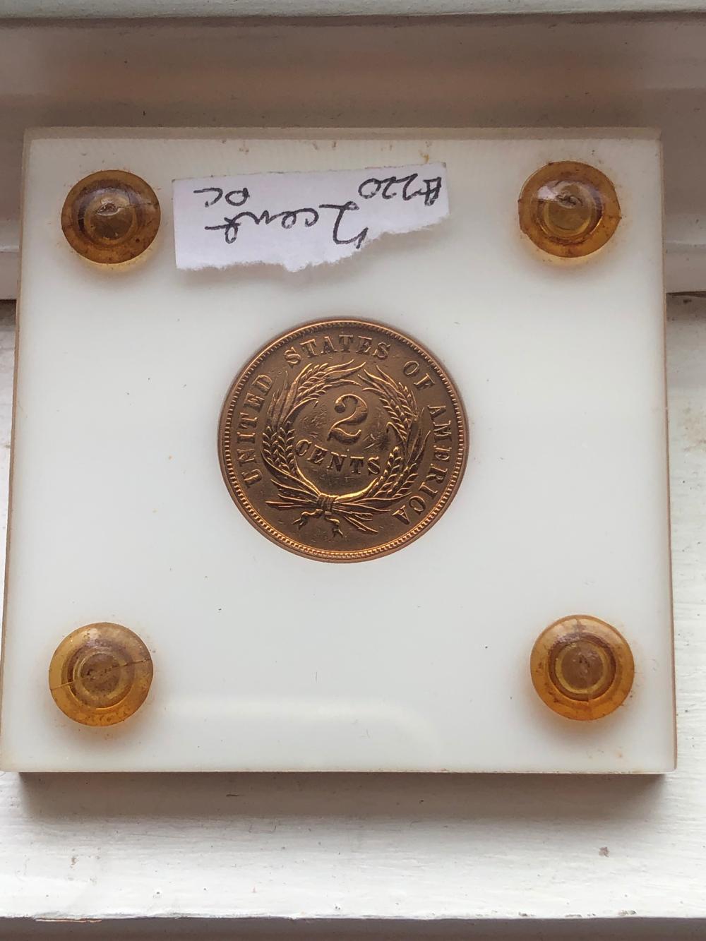 1865 2 Cent Coin Civil War Era