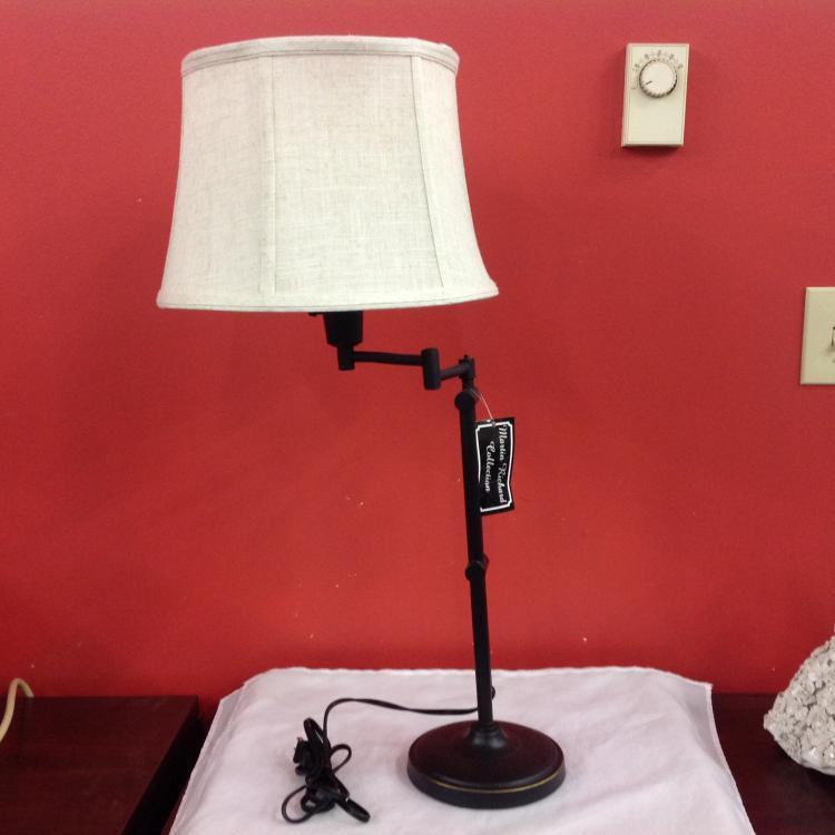 Madison Bronze Swing Arm Table Lamp In Bronze